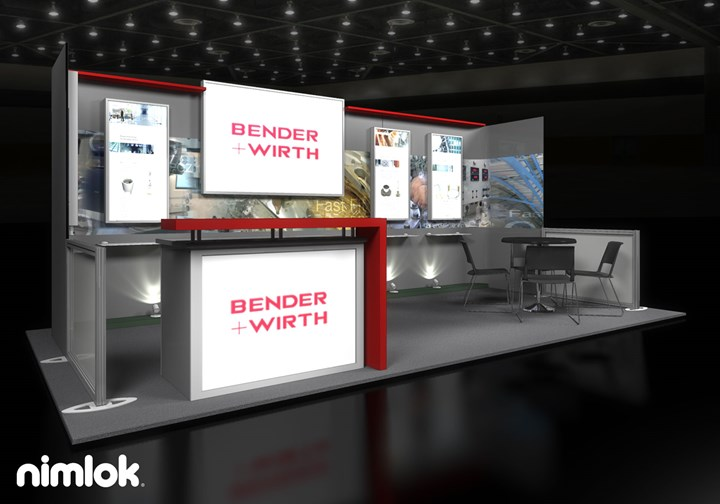 Bender + Wirth - 10x20 - trade show exhibit