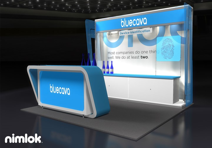 Blue Cava - 10x10 - trade show exhibit