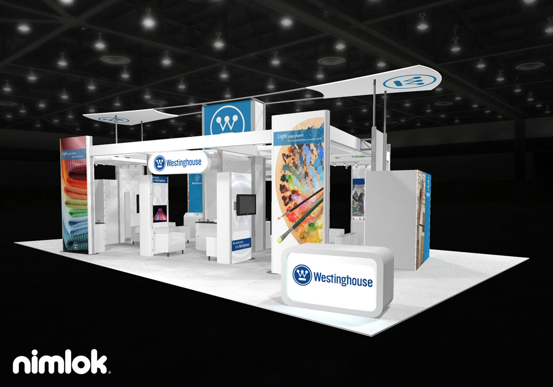 WestingHouse  - 30x50 - trade show exhibit