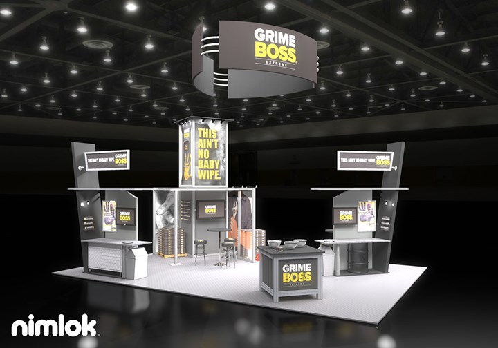 NicePak/Grime Boss  - 20x30 - trade show exhibit