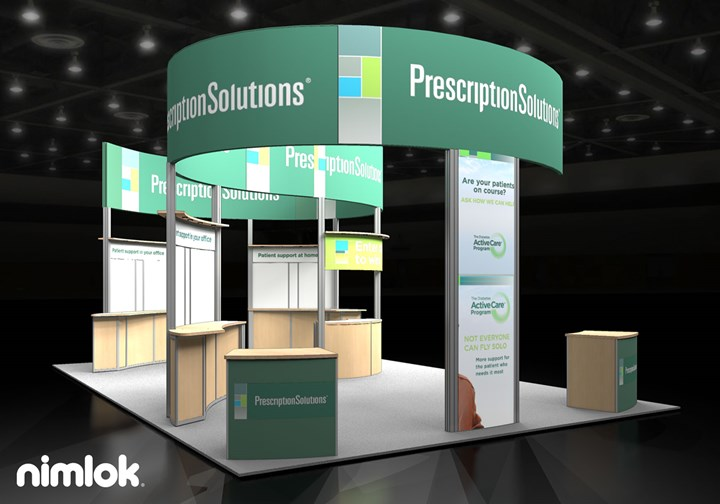 Prescription Solutions - 20x30 - trade show exhibit