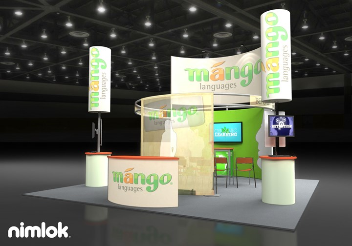 Mango Languages - 20x20 - trade show exhibit