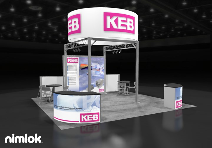KEB America - 20x20 - trade show exhibit