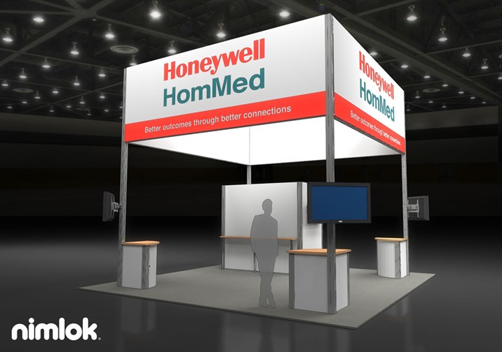 Honeywell HomMed - 20x20 - trade show exhibit