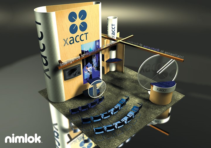 Xacct  - 20x20 - trade show exhibit