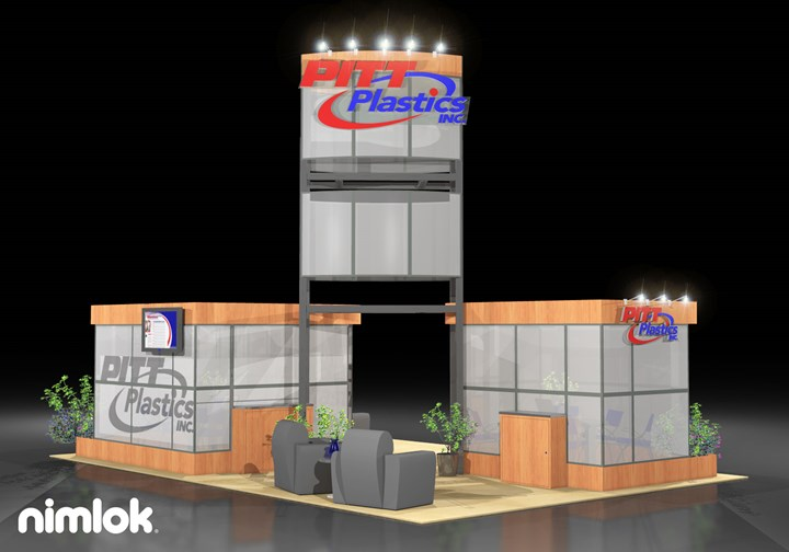 Pitt Plastics  - 20x30 - trade show exhibit