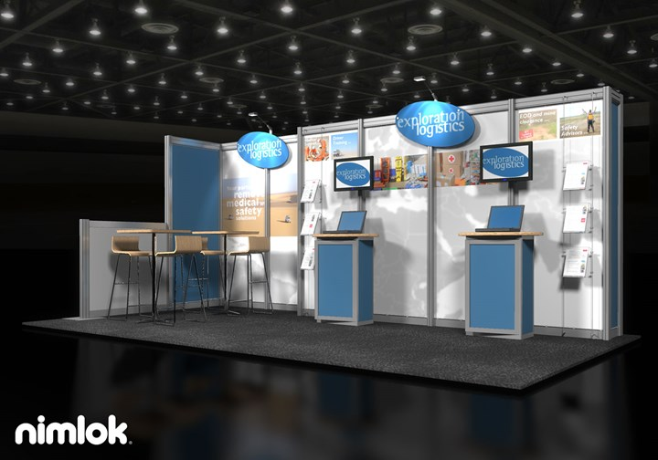 Exploration Logistics  - 10x20 - trade show exhibit