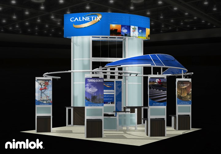 Calnetix  - 20x20 - trade show exhibit