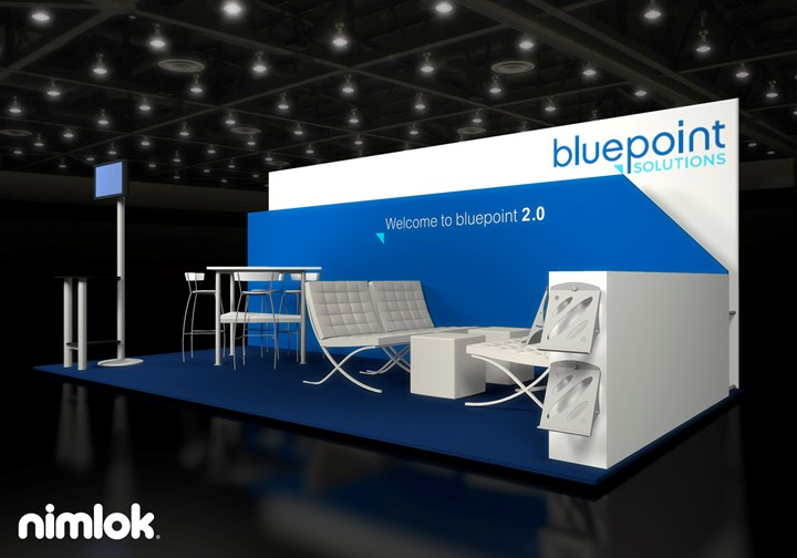 Bluepoint Solutions  - 10x20 - trade show exhibit