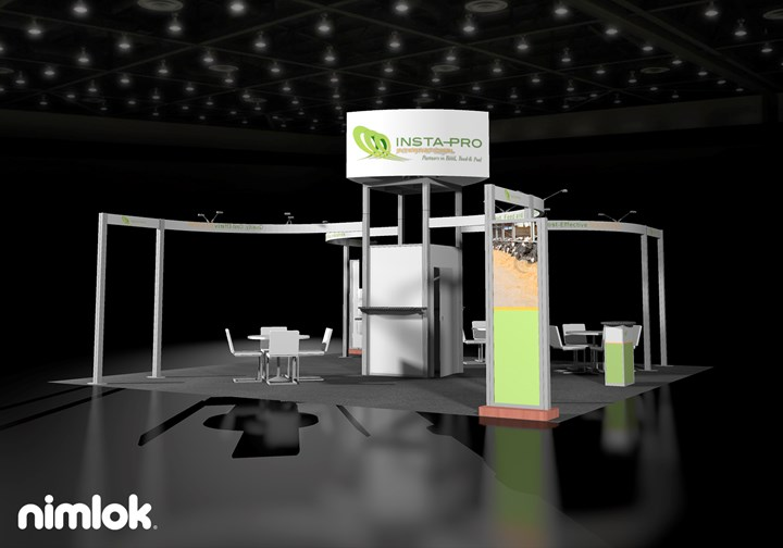 Insta-Pro - 30x30 - trade show exhibit