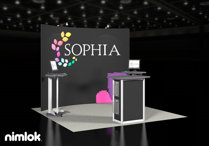 Sophia - 10x10 - trade show exhibit