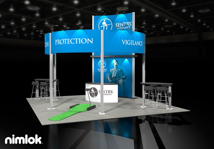 Sentry Insurance  - 20x20 - trade show exhibit