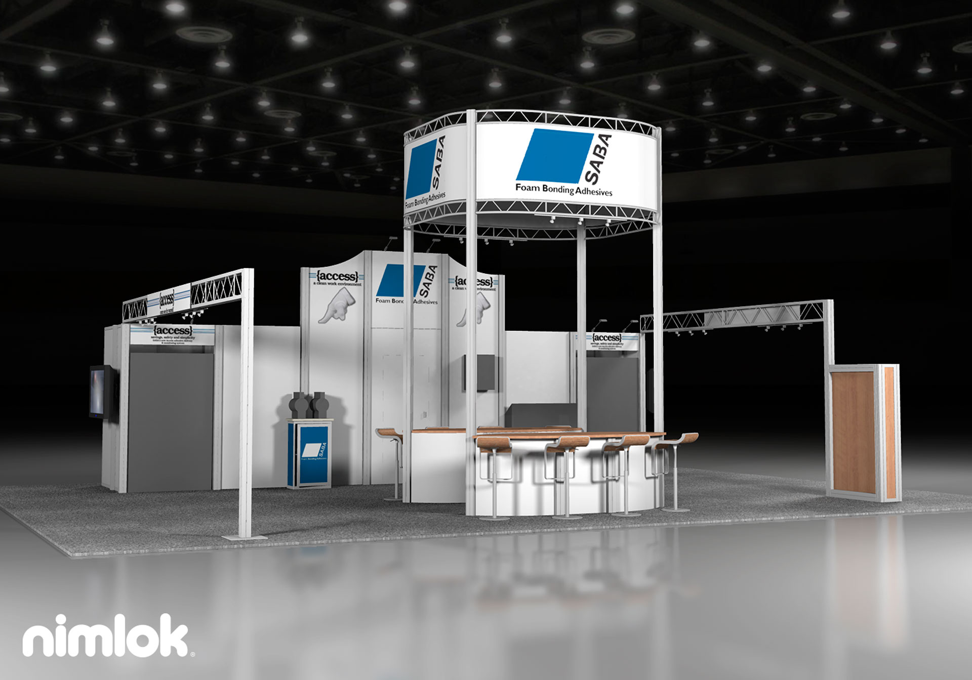 SABA  - 30x40 - trade show exhibit