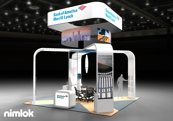 Bank of America Merrill Lynch  - 20x20 - trade show exhibit
