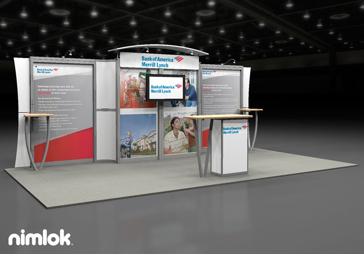 Bank of America Merrill Lynch  - 10x20 - trade show exhibit
