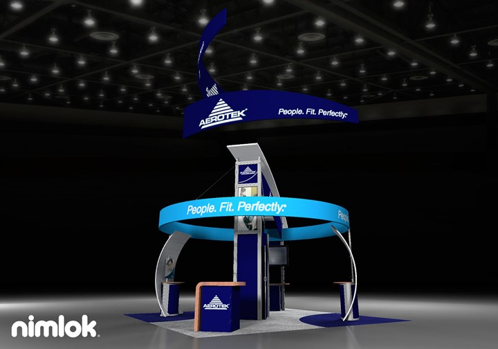 Aerotek  - 20x20 - trade show exhibit