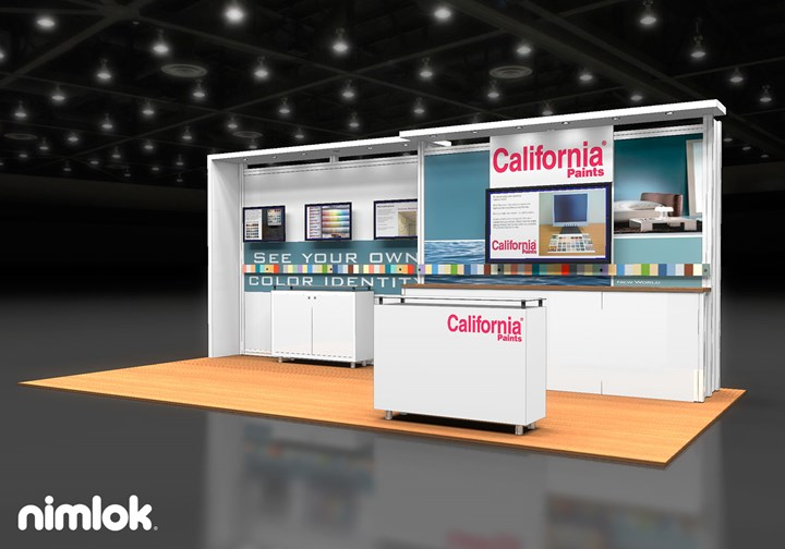 California Products  - 10x20 - trade show exhibit
