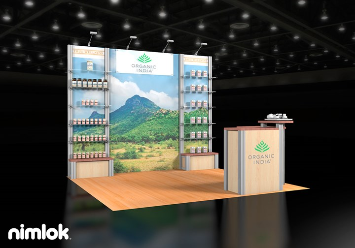 Organic India (LP design)  - 10x10 - trade show exhibit