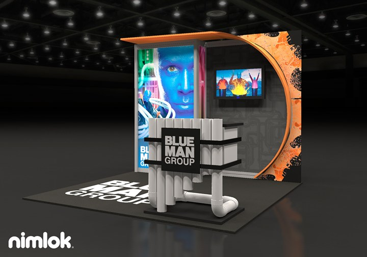 Blue Man Group  - 10x10 - trade show exhibit