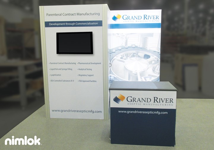 Grand River Aseptic Manufacturing - 10x10 - trade show exhibit