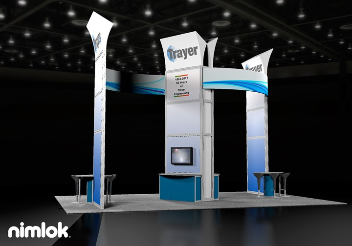 Trayer Engineering  - 40x40 - trade show exhibit