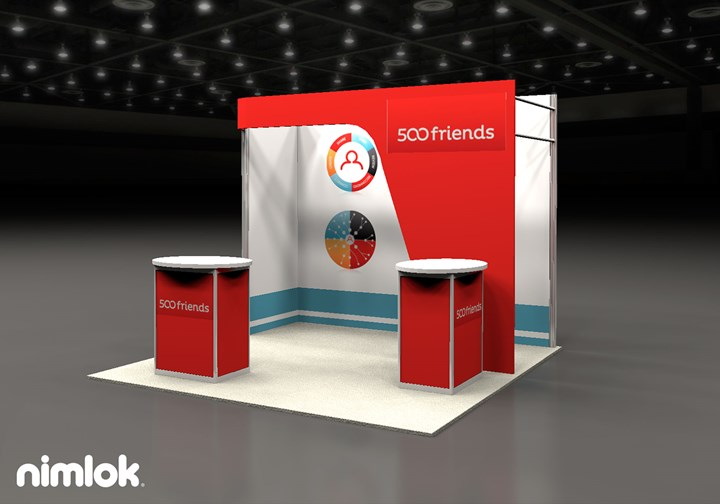 500 Friends  - 10x10 - trade show exhibit