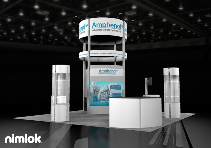 Amphenol Industrial  - 20x20 - trade show exhibit