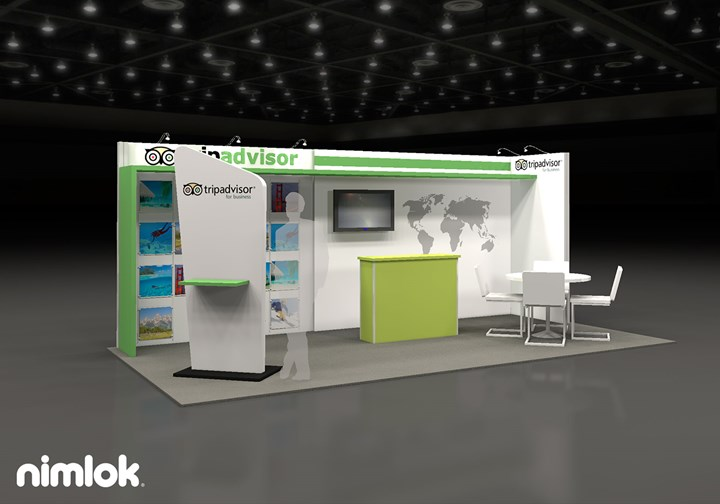 Trip Advisor  - 10x20 - trade show exhibit