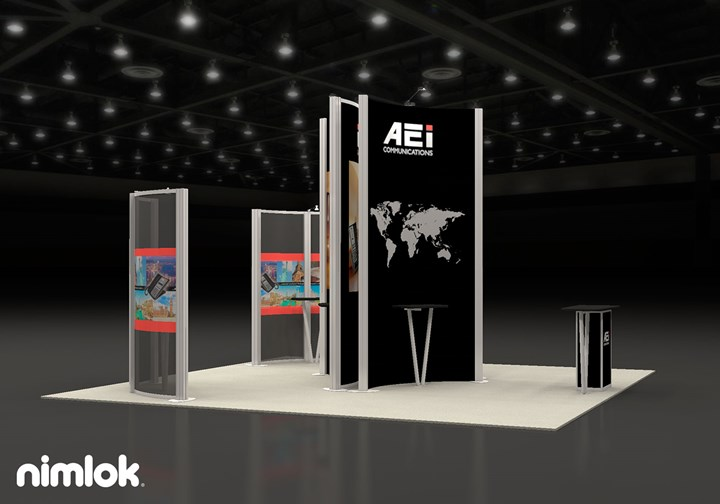 AEI Communications - 20x20 - trade show exhibit