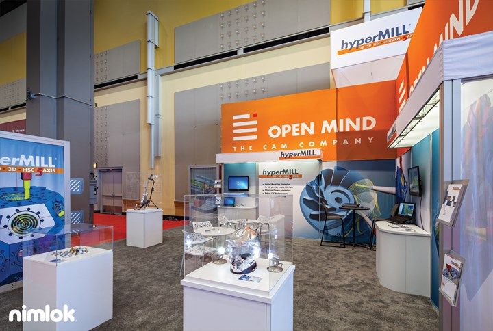 Open Mind Technologies - 30x30 - trade show exhibit