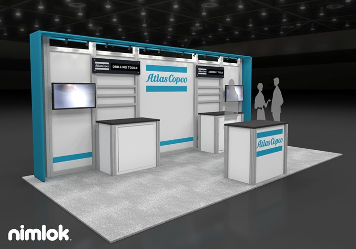 Atlas Copco - 10x20 - trade show exhibit