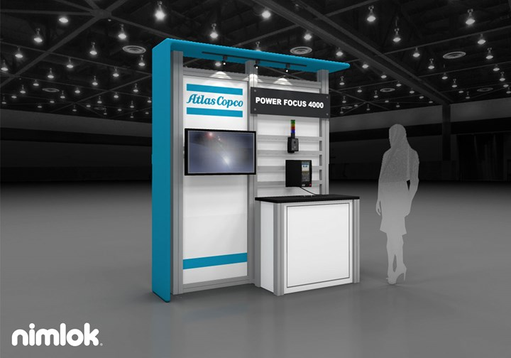 Atlas Copco - 10x10 - trade show exhibit