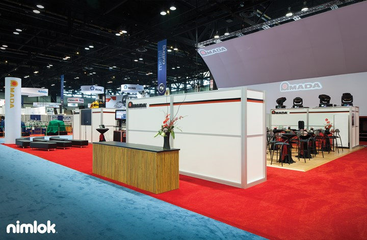 Amada International - Larger  - trade show exhibit