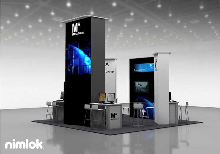 Masa Group - 20x20 - trade show exhibit