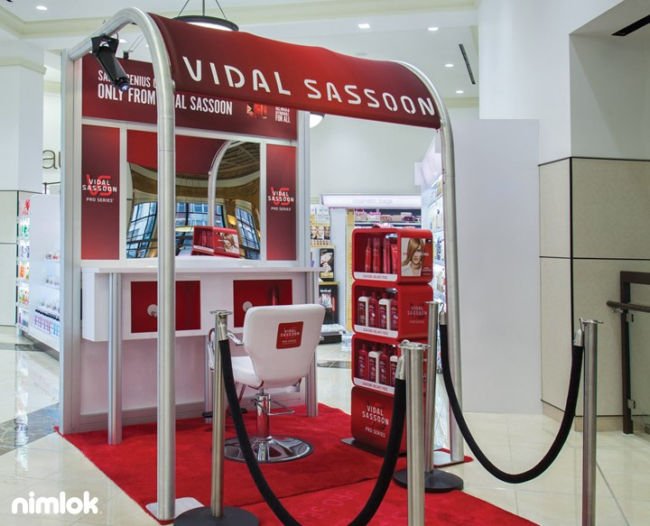 TH Productions - Vidal Sassoon - 10x20 - trade show exhibit