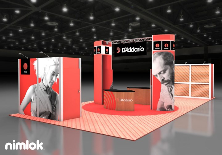 D'ADDARIO - 20x40 - trade show exhibit