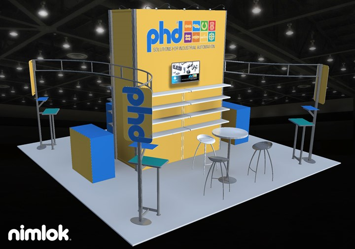 PHD Inc. - 20x20 - trade show exhibit