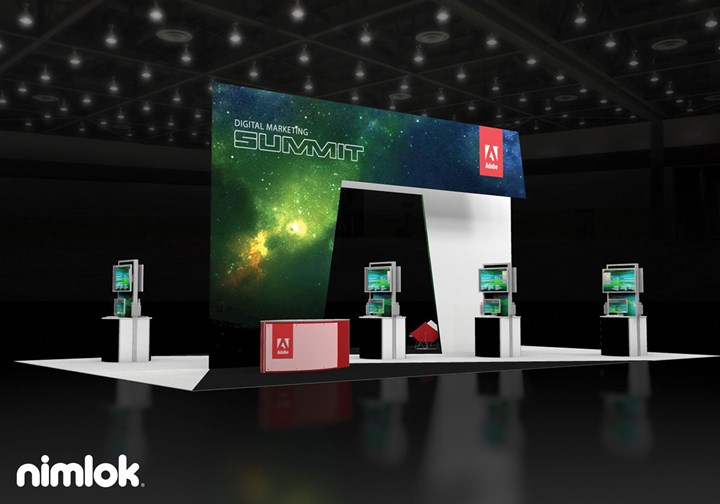 Adobe  - 30x50 - trade show exhibit