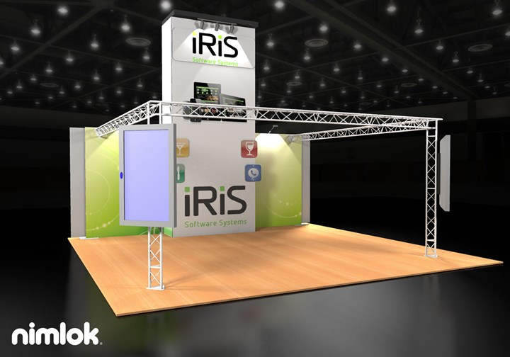 Iris Software Systems  - 20x20 - trade show exhibit