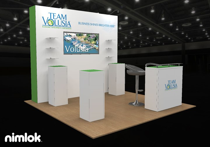 Team Volusia EDC Daytona Beach - 10x10 - trade show exhibit