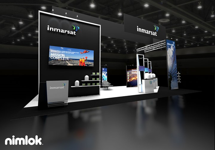 Inmarsat - 20x40 - trade show exhibit