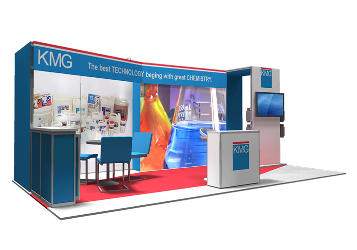 KMG Electronic Chemicals - 10x20 - trade show exhibit