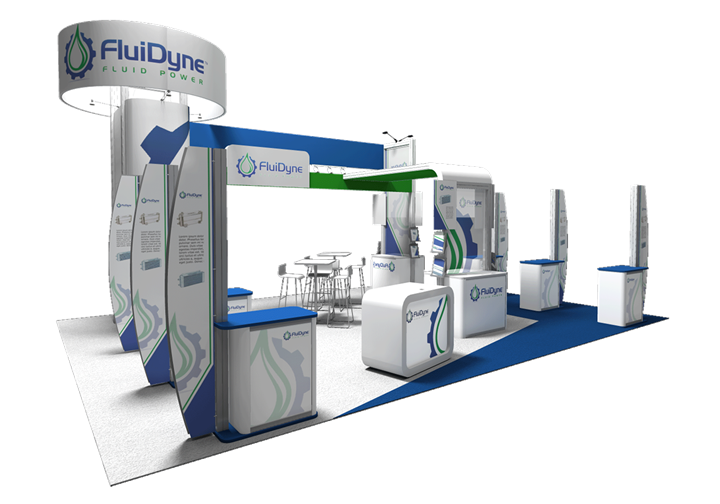 FluiDyne  - 20x30 - trade show exhibit