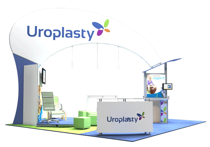 Uroplasty - 20x20 - trade show exhibit