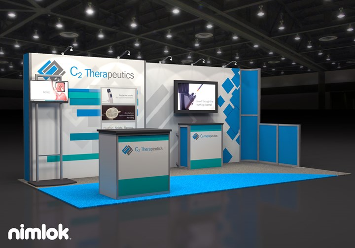 C2 Therapeutics  - 10x20 - trade show exhibit