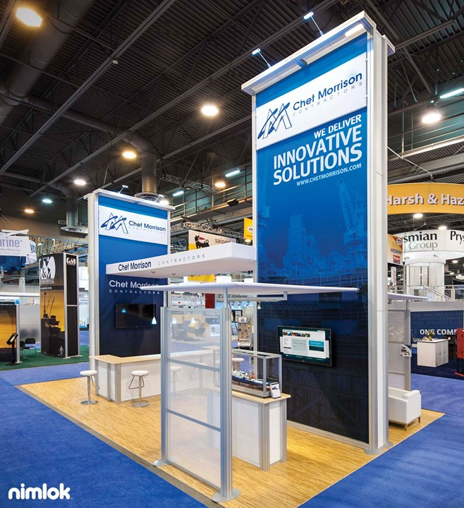 Chet Morrison Contractors - 20x30 - trade show exhibit