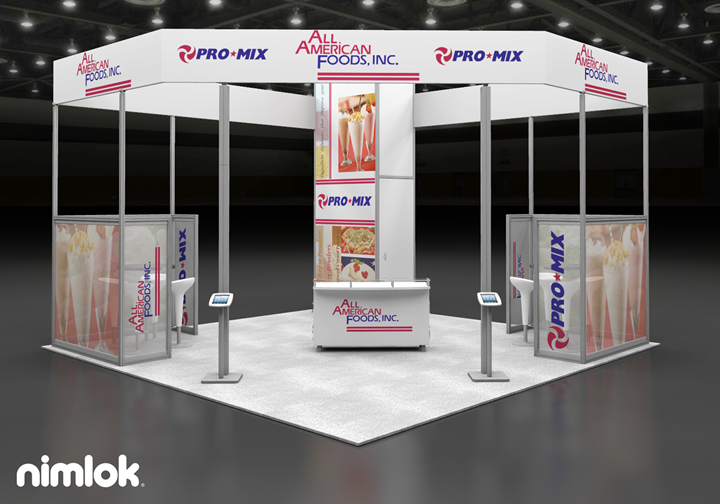 All American Foods  - 20x20 - trade show exhibit