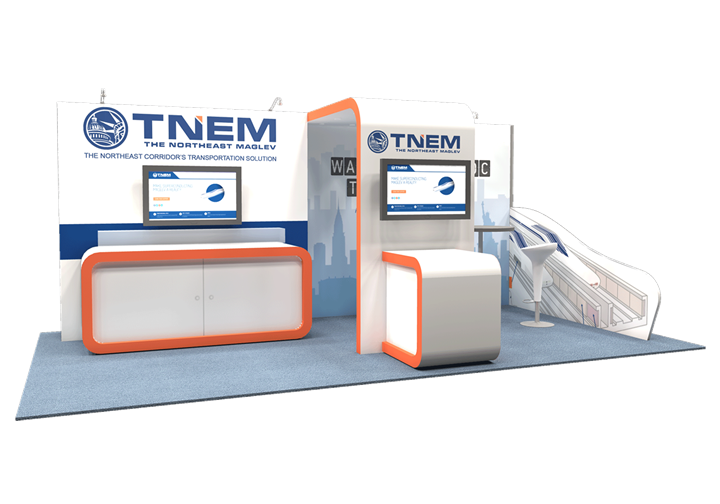 TNEM The Northeast Maglev  - 10x20 - trade show exhibit