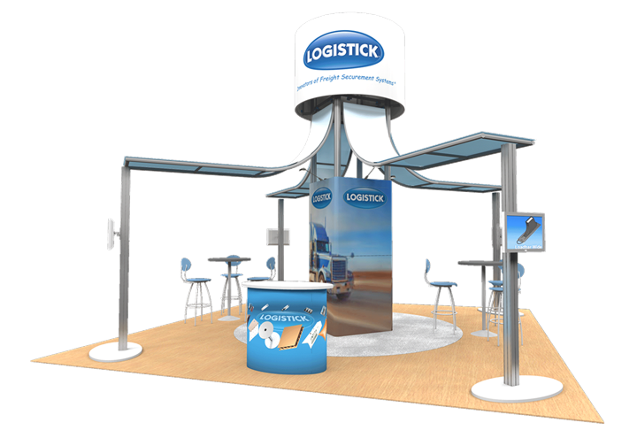 Logistick - 20x20 - trade show exhibit