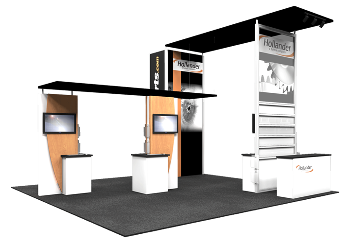 Hollander  - 20x20 - trade show exhibit